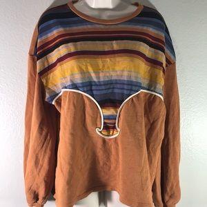 Zara Oversized burnt orange crew neck sweater